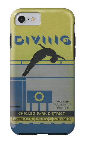 Diving iPhone Case Chicago Park District
