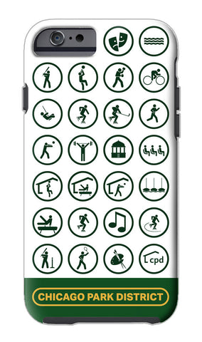 Pictograms iPhone Case Chicago Park District