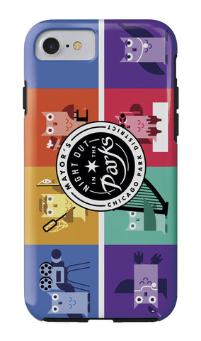 Luna (Night Out in the Parks) iPhone Case Chicago Park District