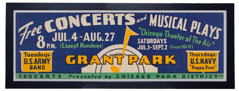 Free Concerts and Musical Plays Framed Print