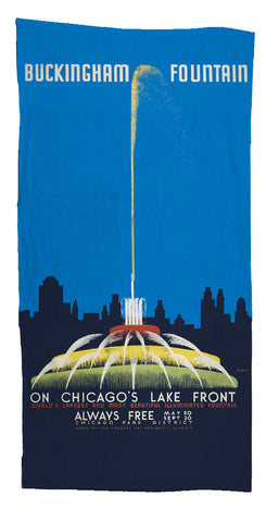 Buckingham Fountain Towel