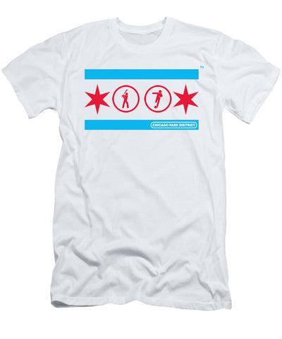 Chicago Flag  (Baseball & Soccer) T-Shirt