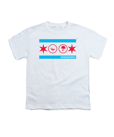 Chicago Flag (Playground & Tree) Youth T-Shirt