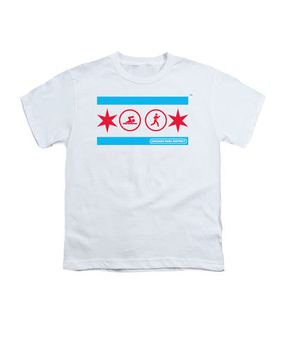 Chicago Flag (Swimming & Running) Youth T-Shirt