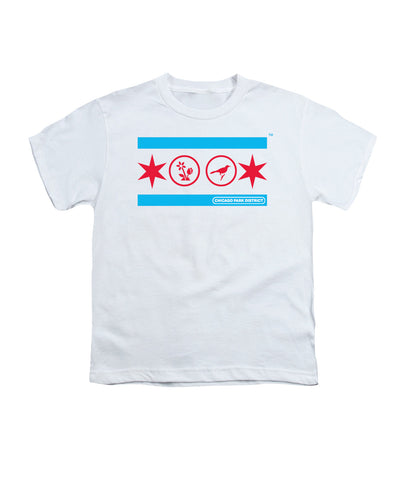 Chicago Flag (Gardens & Birding) Youth T-Shirt