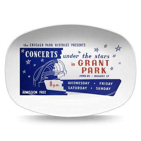 Concerts Under the Stars Resin Serving Dish