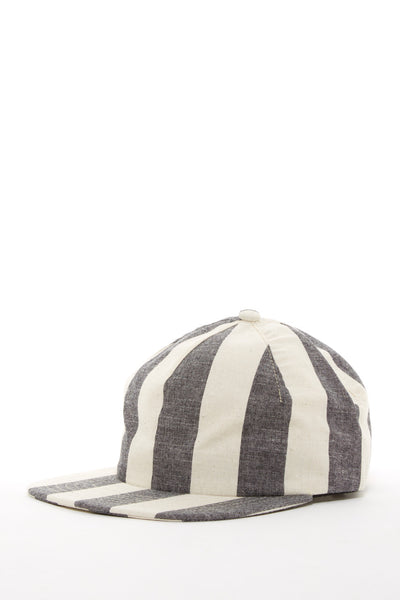 ARGOT X BASE MFG ONE PIECE STRIPED CHAMBRAY CAP GREY
