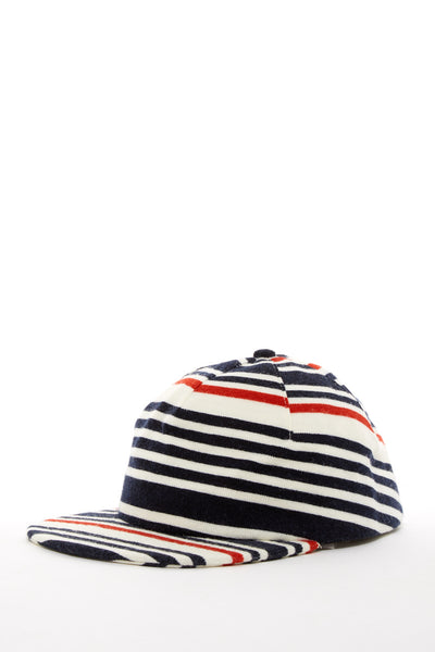 ARGOT X BASE MFG ONE PIECE STRIPED KNIT CAP RED