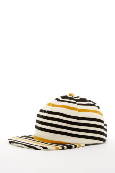ARGOT X BASE MFG ONE PIECE STRIPED KNIT CAP YELLOW