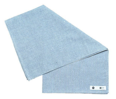 THE ESSENTIAL HANDKERCHIEF - STRIPED CHAMBRAY