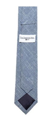 THE ESSENTIAL TIE - BLUE CHAMBRAY