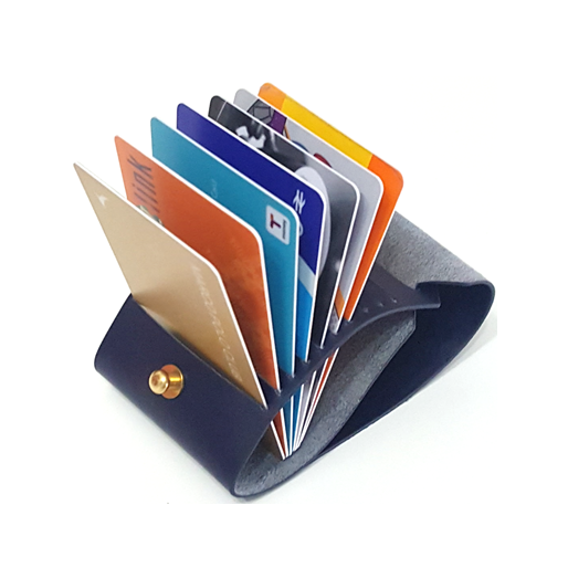 OPEN JAW CARD WALLET NAVY
