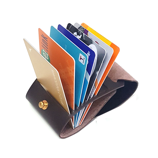OPEN JAW CARD WALLET BROWN