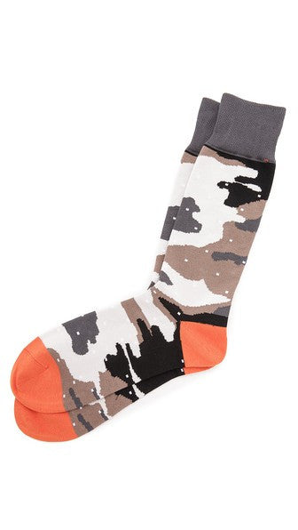 MR. GRAY CAMO DOT SOCKS
