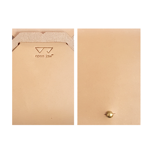 OPEN JAW CARD WALLET TAN