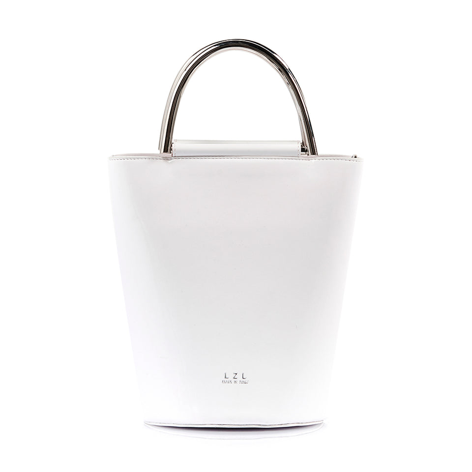Bucket Bag White Patent