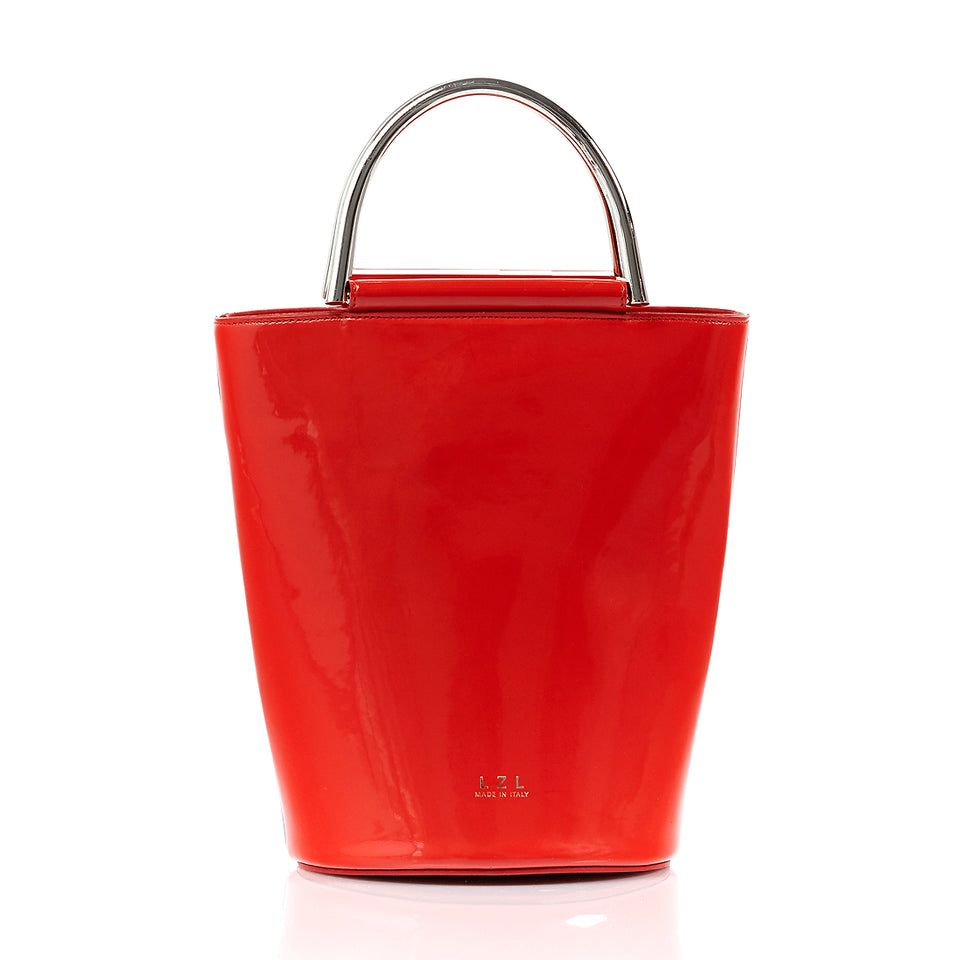 Bucket Bag Red Patent