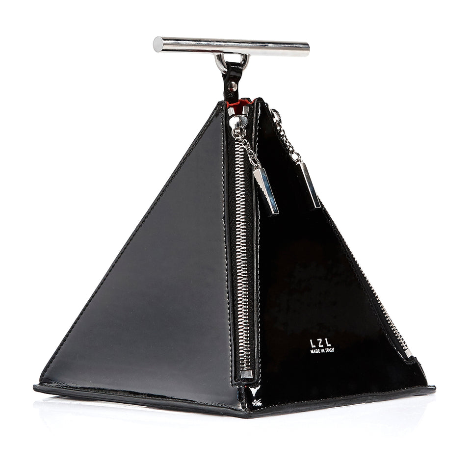 Pyramid Bag Black Patent
