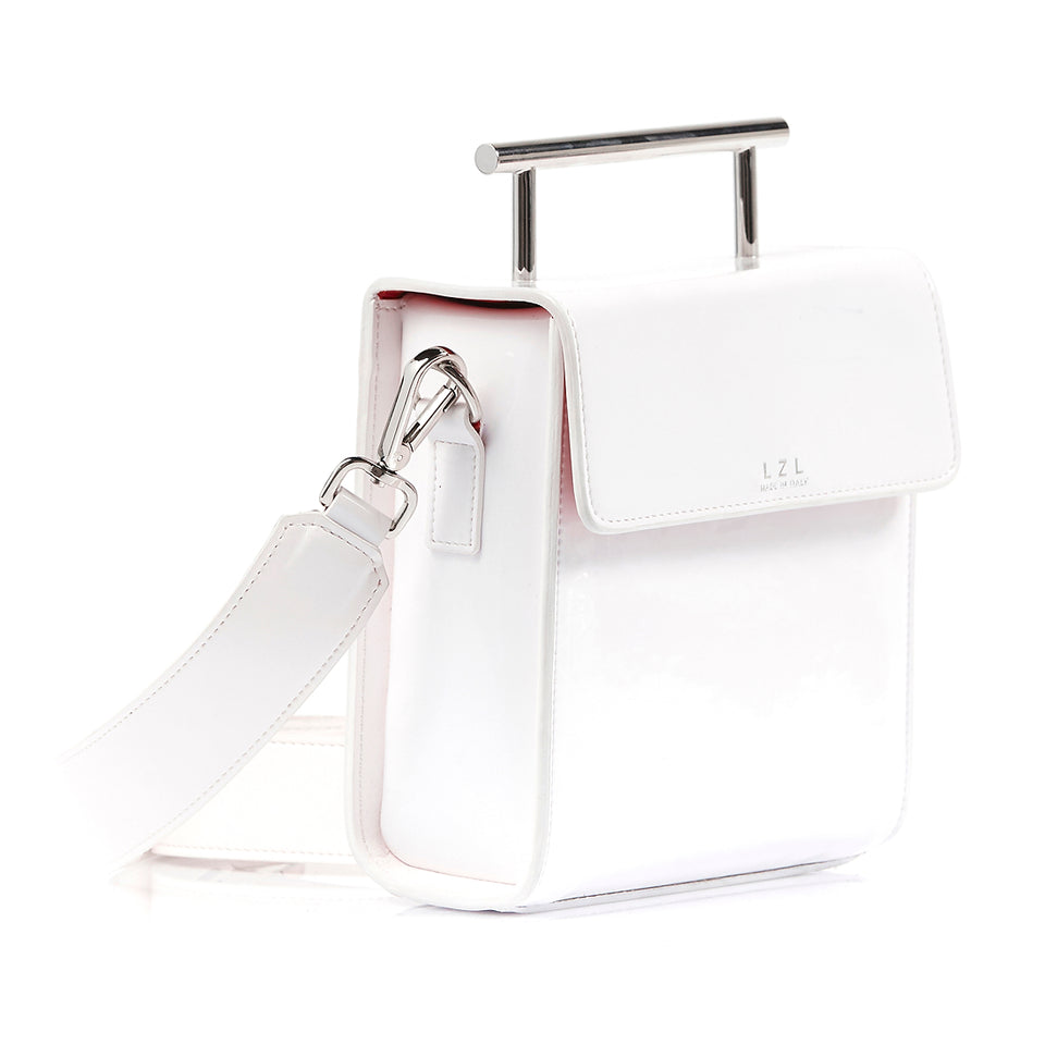 Box Bag White Patent