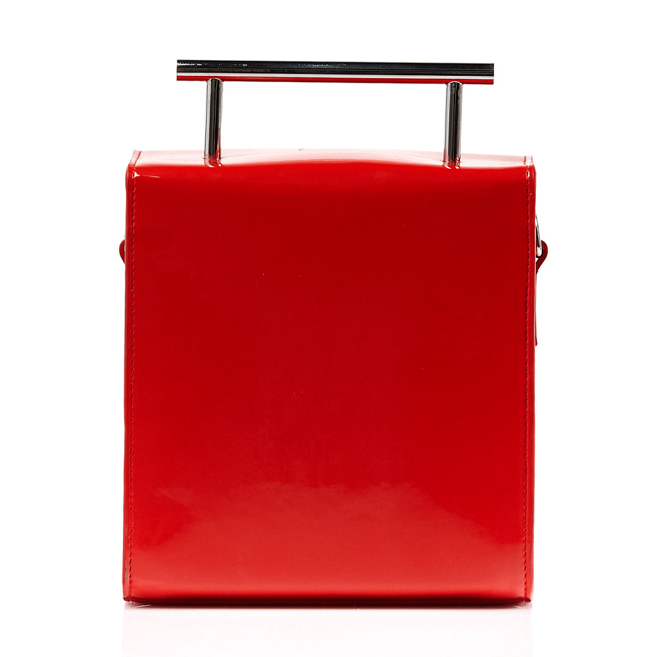 Box Bag Red Patent