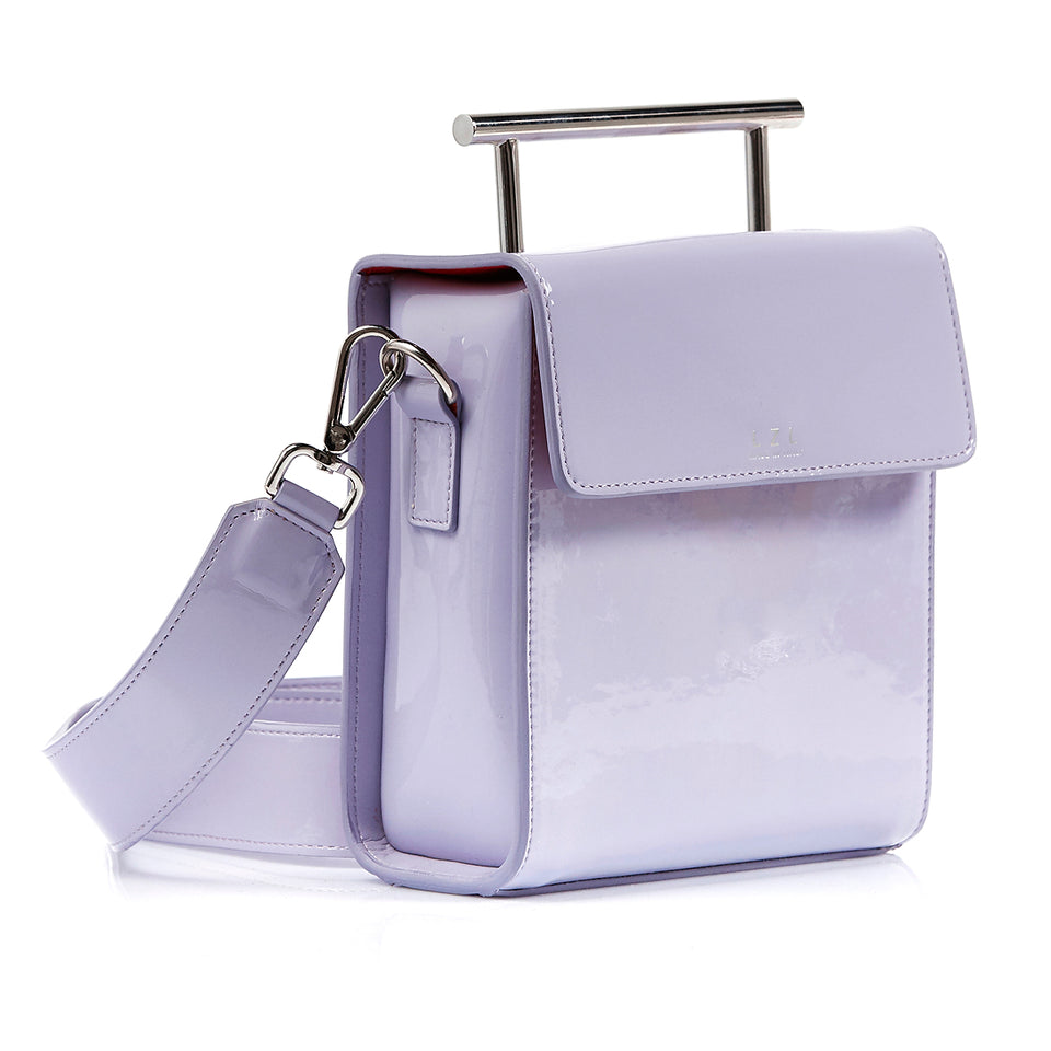 Box Bag Lavender Patent