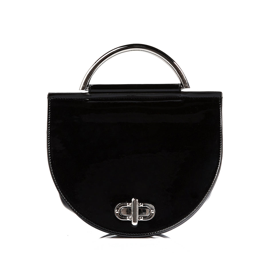 Saddle Bag Black Patent