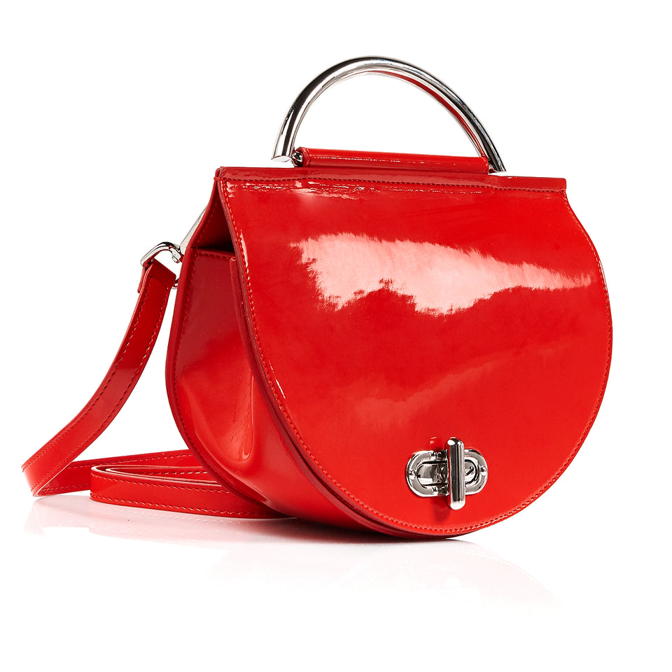 Saddle Bag Red Patent