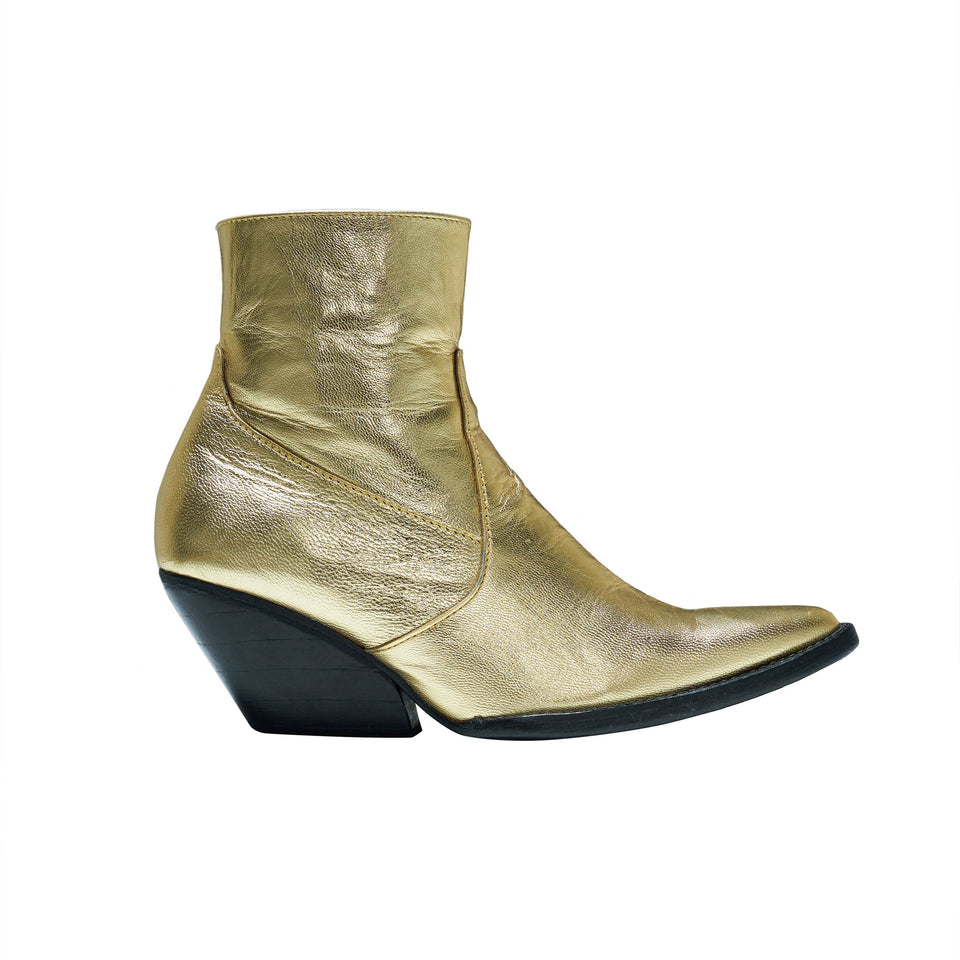 WESTERN BOOT- GOLD