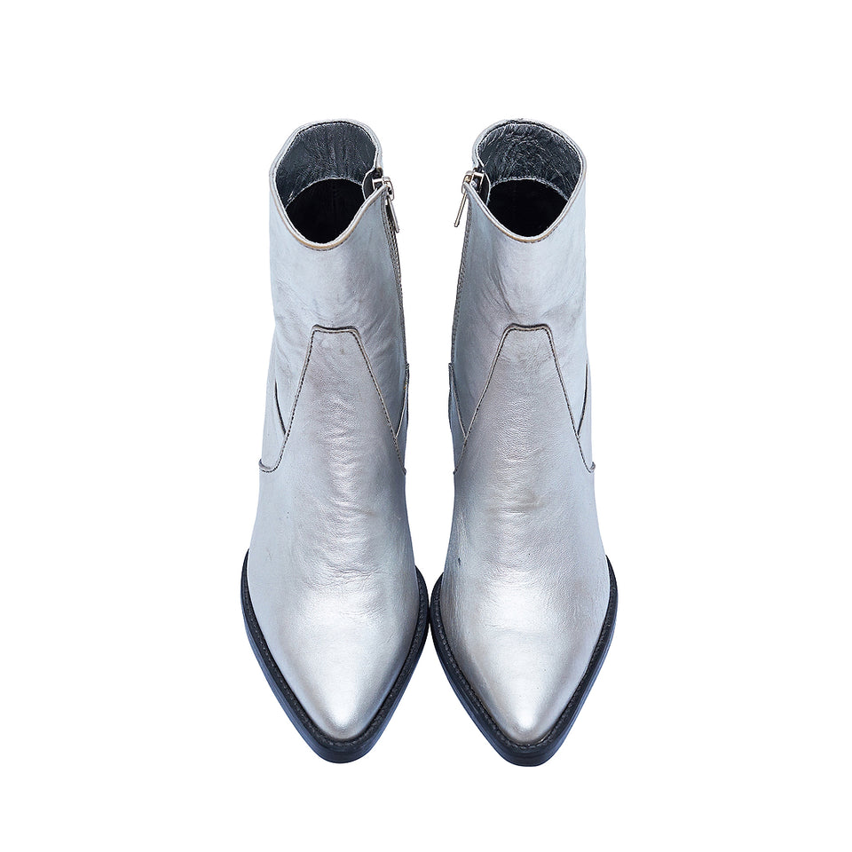 WESTERN BOOT- SILVER