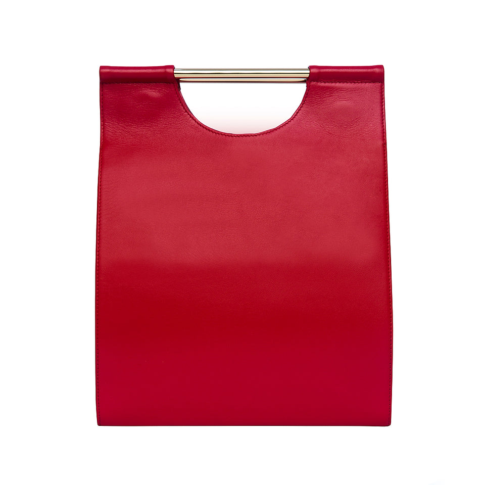 Structured Tote Bag Red
