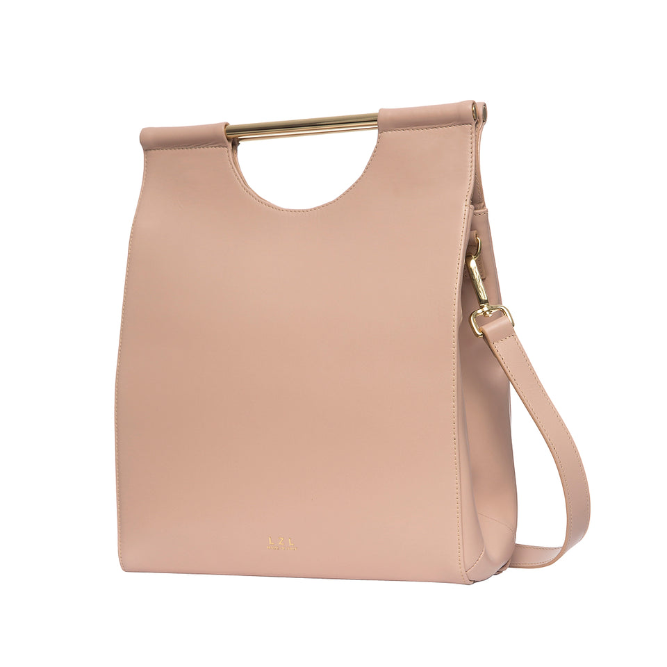 Structured Tote Bag Pale Blush