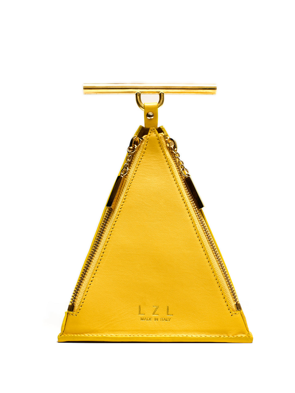 LZL Pyramid Bag 002 Yellow - Front