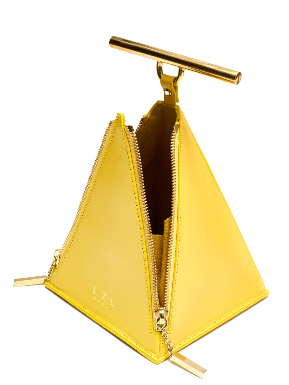LZL Pyramid Bag 002 Yellow - Inside
