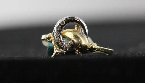 Dolphin 14kt Yellow Gold Ring