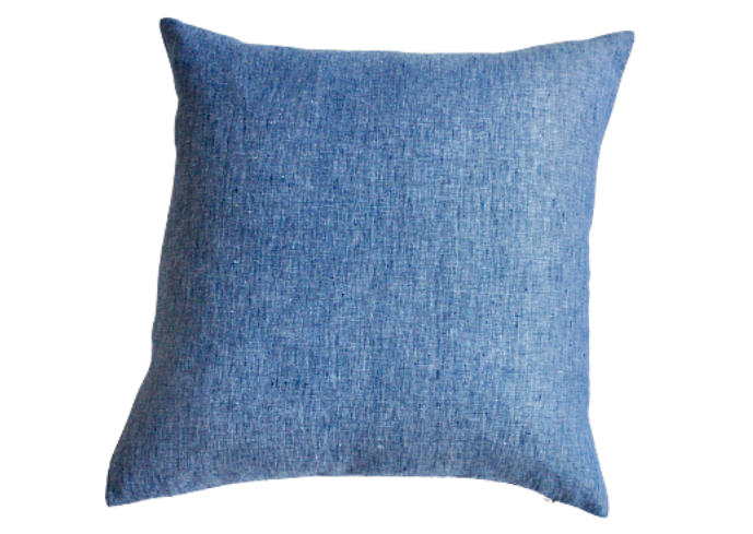 Jean Blue Textured Throw Pillow - Modernplum