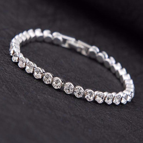 Marrissa Bracelet - AAA CZ Silver Plated Bracelet For Girls And Women-Cubic Zirconia Bracelet Fashion Jewellery Ornament-BL01-The Style Diva - India