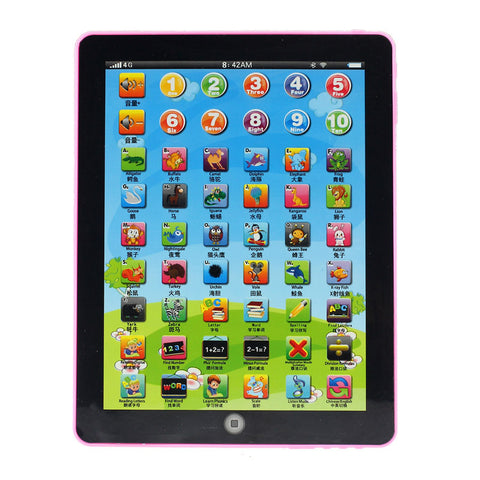 English & Chines Learning Tablet Child Toy