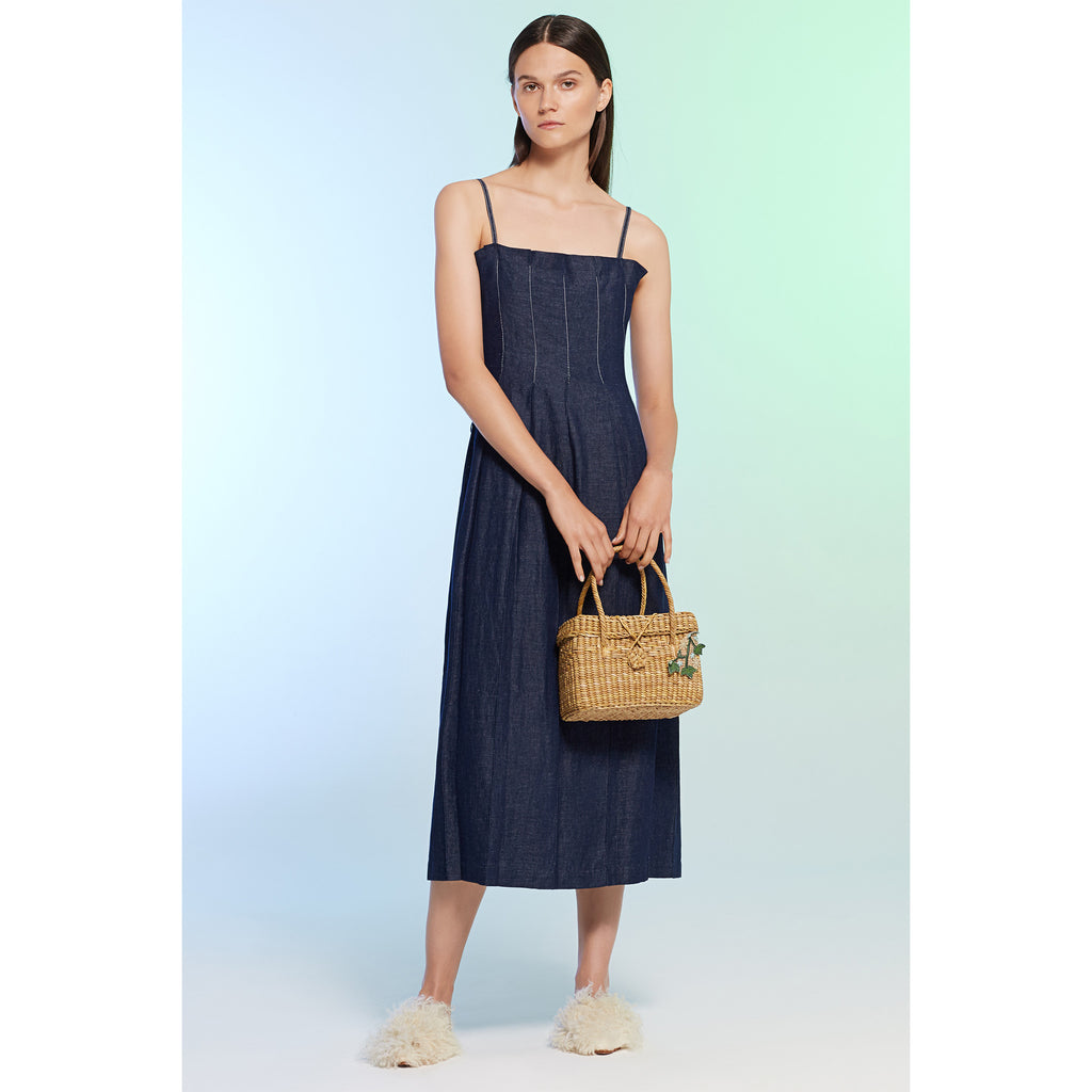 Denim Pleat Dress