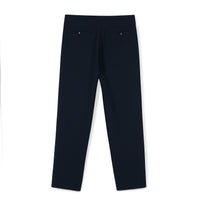Tailored Crop Crepe Pants in Midnight