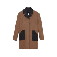 Reversible Double Faced Alpaca Worker Coat