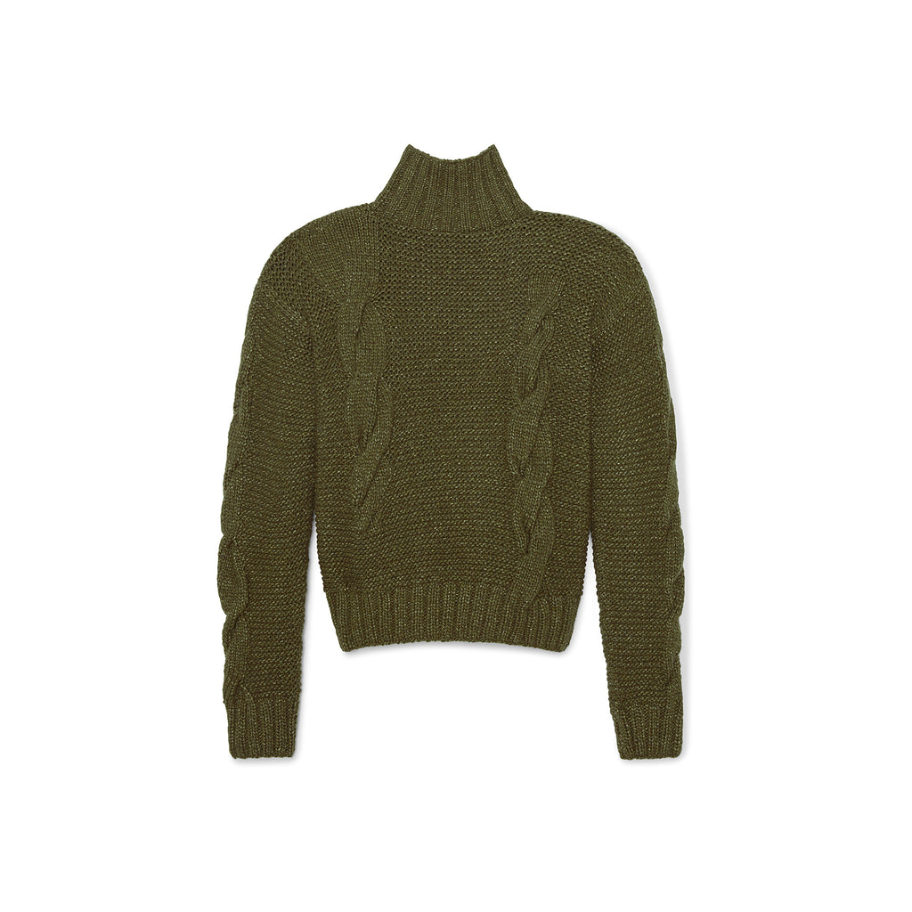 Disappearing Cable Knit Sweater