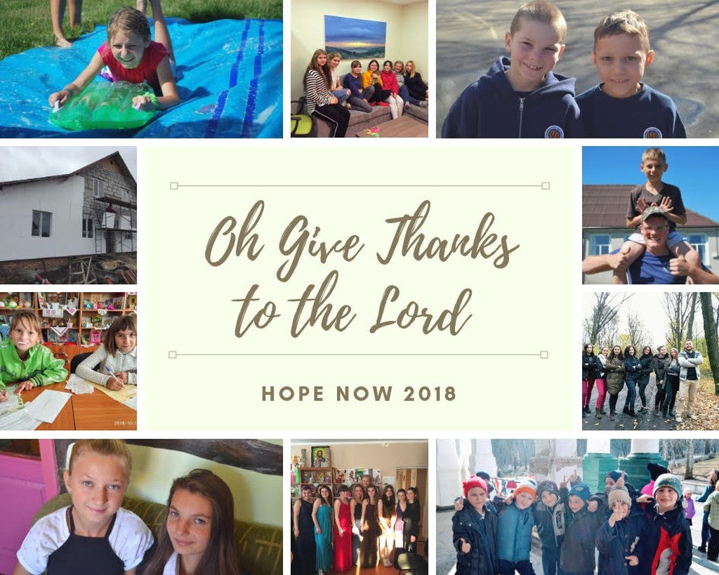 Giving Thanks for 2018