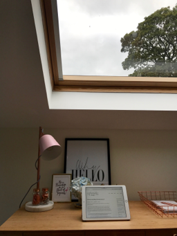 Desk and Velux Roof Windows