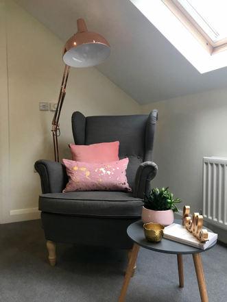 Armchair, Lamp and Velux Roof Window