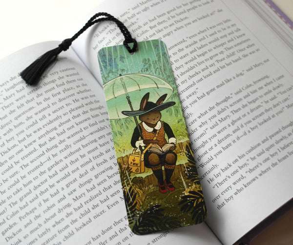 Rainy Day Rabbit - Bookmark