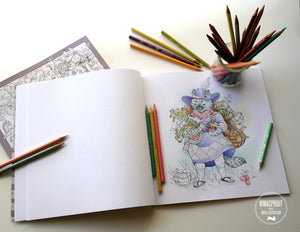Animal Adventurers: Coloring Book
