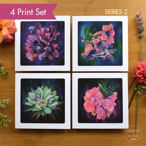 Flower Series II - 4 Print Set
