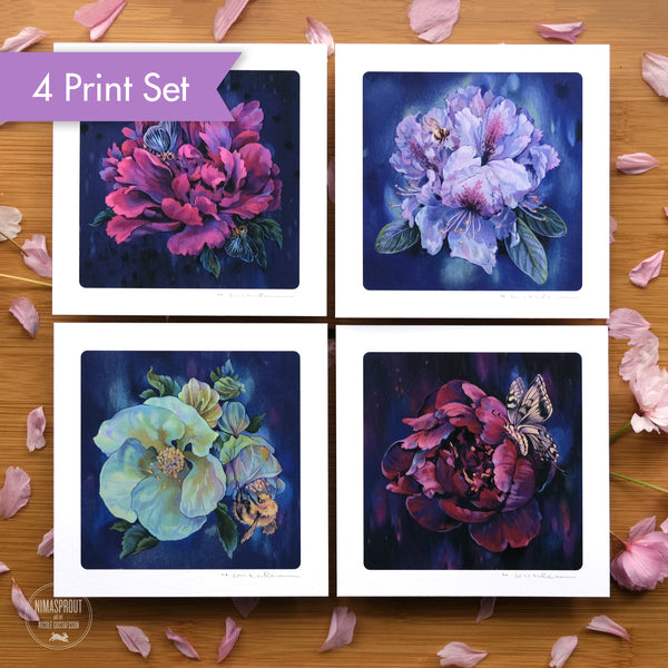 Flower Series - 4 Print Set