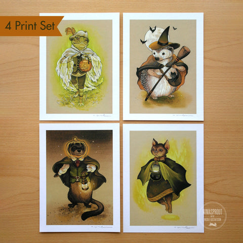 Autumn Animals - 4 PIECE PRINT SET
