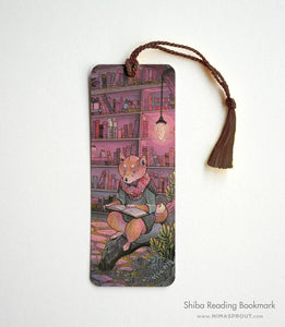 Shiba Reading - Bookmark